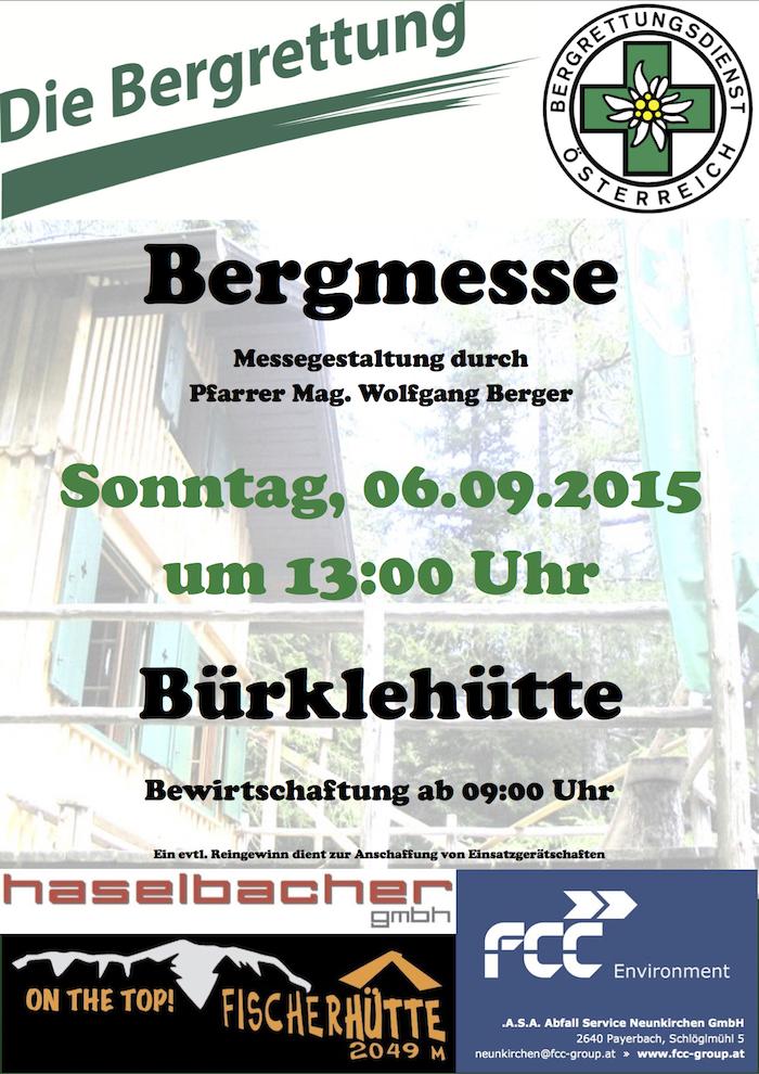 150906 Plakat Bürklehüttenfeier