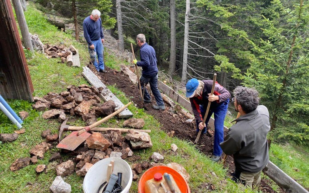 Neue Stützmauer für die Bürklehütte