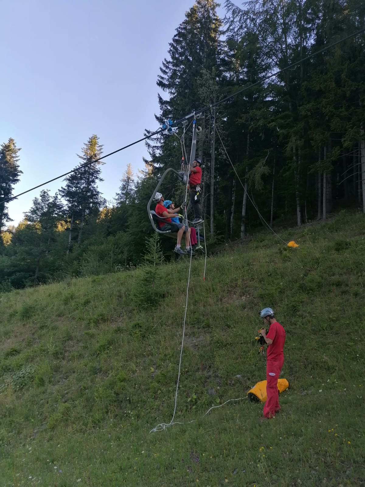 Liftbergeteam beim Training 1