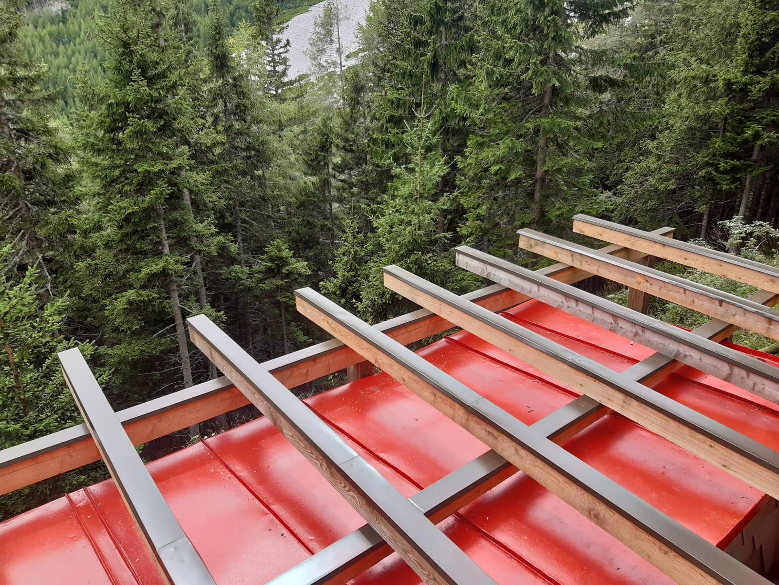 Neue Terrasse für die Bürklehütte 1